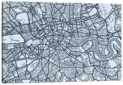 London Map VIII Canvas Art Print