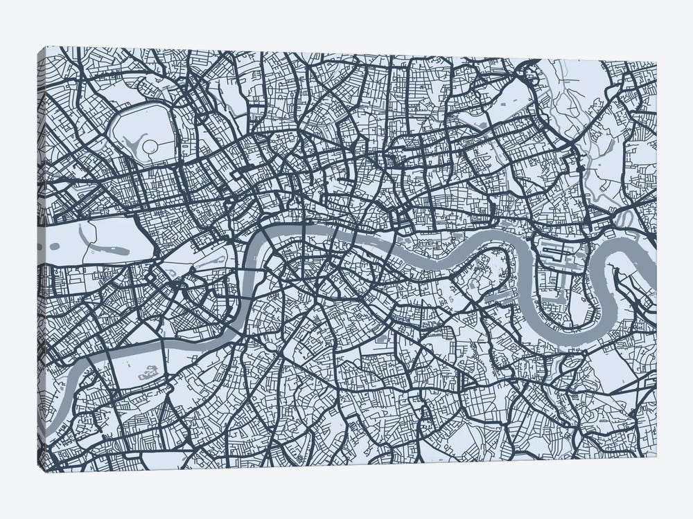 London Map VIII by Michael Tompsett 1-piece Canvas Print