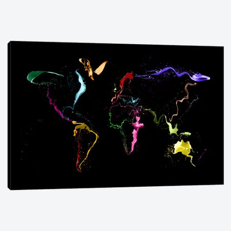World Map (Abstract Paint) II Canvas Print #12817} by Michael Tompsett Canvas Print
