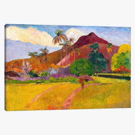 Tahitian Landscape Canvas Print #1281} by Paul Gauguin Canvas Art