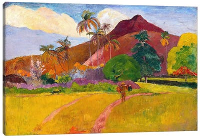 Tahitian Landscape by Paul Gauguin Canvas Art