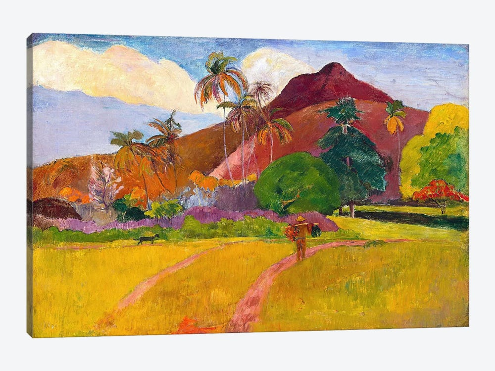 Tahitian Landscape by Paul Gauguin 1-piece Canvas Wall Art