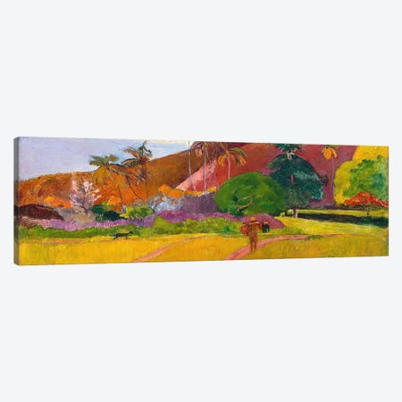 Tahitian Landscape Canvas Print #1281PAN} by Paul Gauguin Art Print
