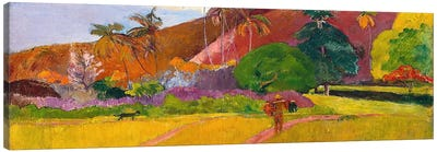 Tahitian Landscape by Paul Gauguin Art Print