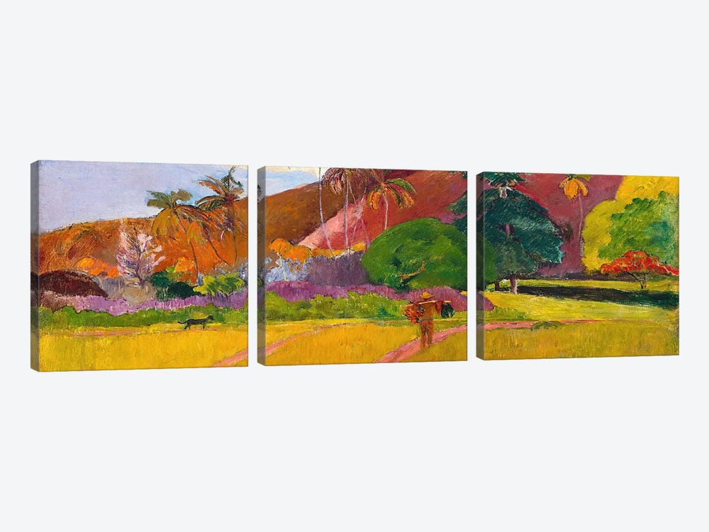 Tahitian Landscape by Paul Gauguin 3-piece Canvas Artwork