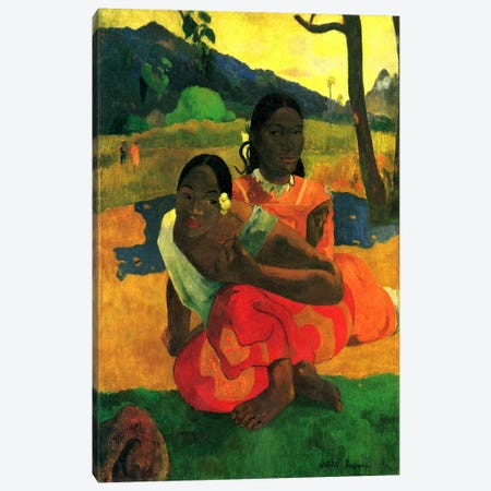 Nafea Faaipoipo (When are You Getting Married) 1892 Canvas Print #1282} by Paul Gauguin Canvas Wall Art