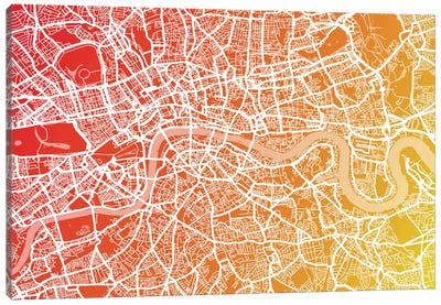 London Map IX Canvas Art Print