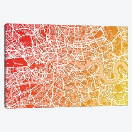 London Map IX Canvas Print #12832} by Michael Tompsett Canvas Wall Art