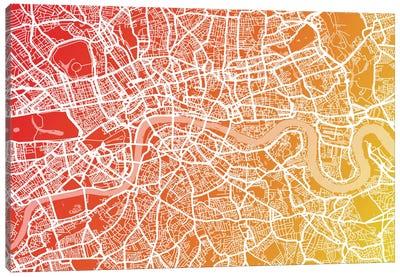 London Map IX Canvas Art Print