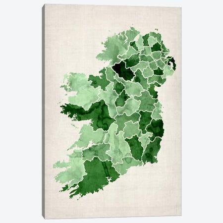 Ireland Watercolor Map Canvas Print #12848} by Michael Tompsett Canvas Print