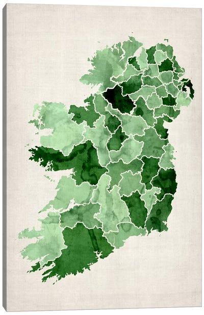 Ireland Watercolor Map Canvas Art Print