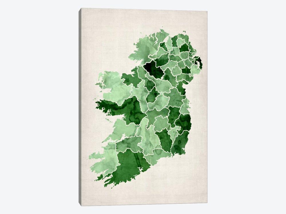Ireland Watercolor Map by Michael Tompsett 1-piece Art Print