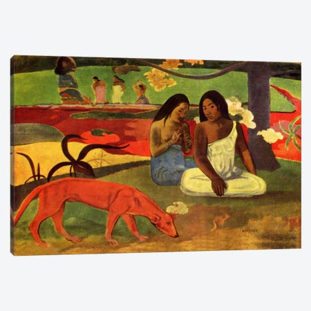 Arearea, 1892 Canvas Print #1284} by Paul Gauguin Art Print