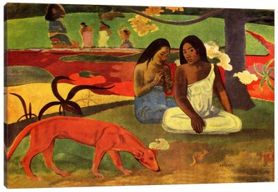 Arearea, 1892 Canvas Art Print