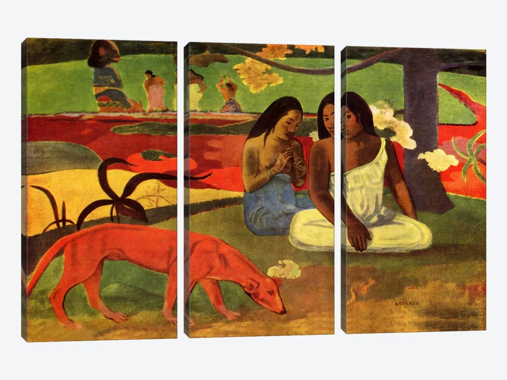 Arearea, 1892 by Paul Gauguin 3-piece Art Print