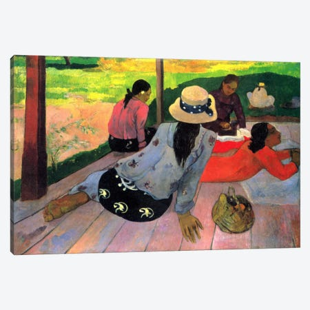 The Siesta Canvas Print #1285} by Paul Gauguin Canvas Print