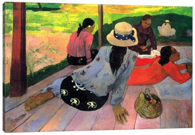 The Siesta Canvas Art Print