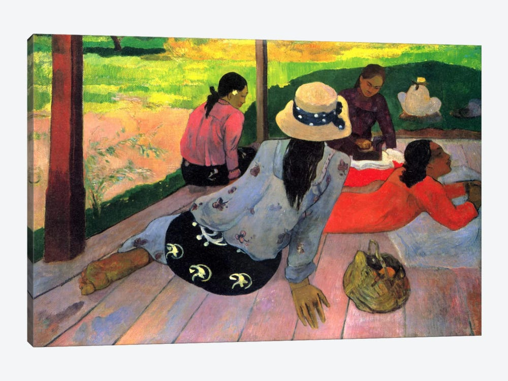 The Siesta by Paul Gauguin 1-piece Canvas Artwork