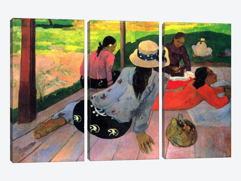 The Siesta by Paul Gauguin 3-piece Canvas Art