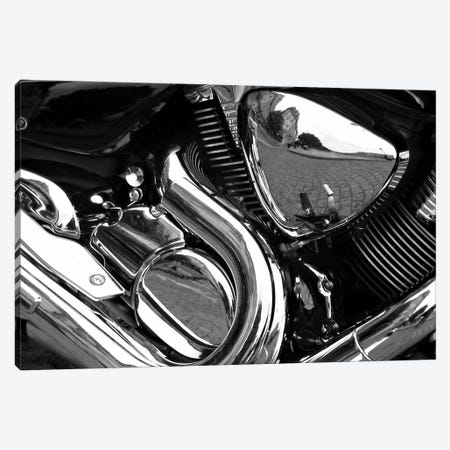 Motorcycle Engine Grayscale ll Canvas Print #12863} Canvas Art Print