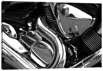 Motorcycle Engine Grayscale ll Canvas Print #12863