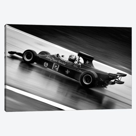 F1 Wet Track Grayscale Canvas Print #12864} Canvas Artwork