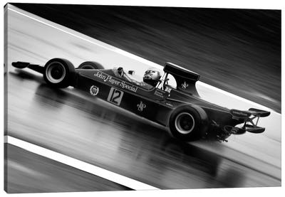 F1 Wet Track Grayscale Canvas Art Print