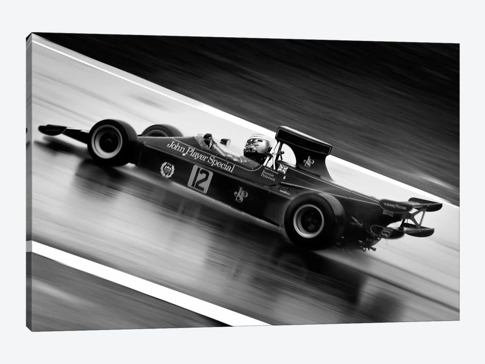 F1 Wet Track Grayscale by Unknown Artist 1-piece Canvas Print
