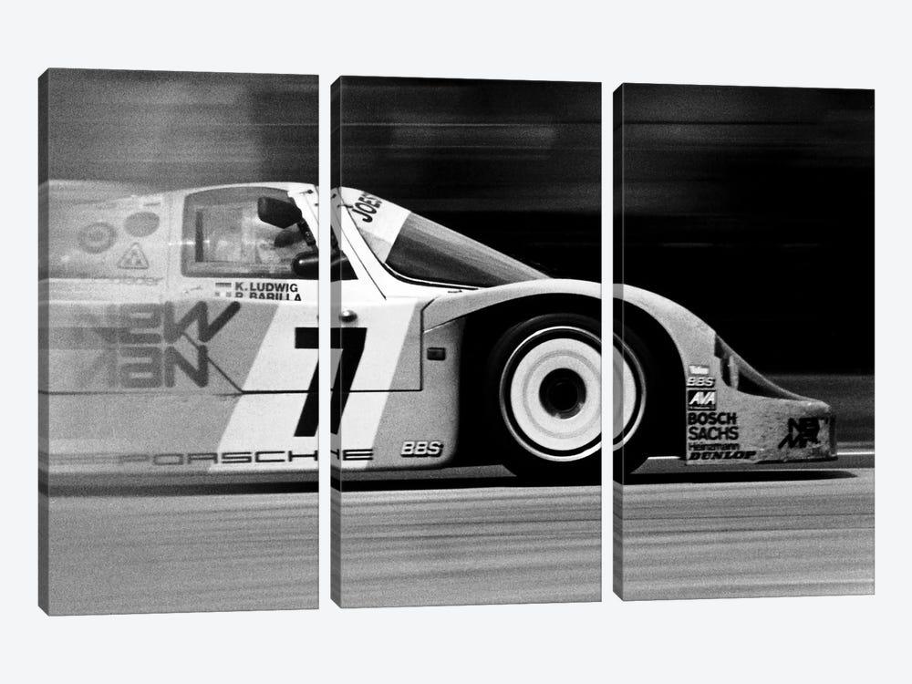 Porsche 956 Racecar by Unknown Artist 3-piece Canvas Art