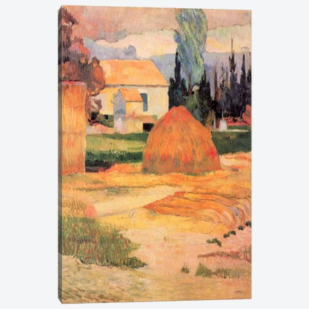 Haystack in Village Canvas Print #1287} by Paul Gauguin Canvas Art Print