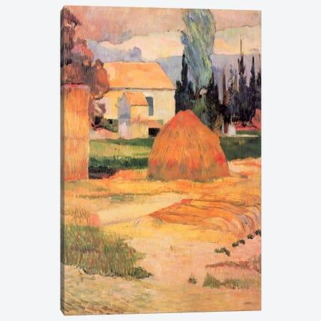 Haystack in Village Canvas Print #1287} by Paul Gauguin Canvas Art Print