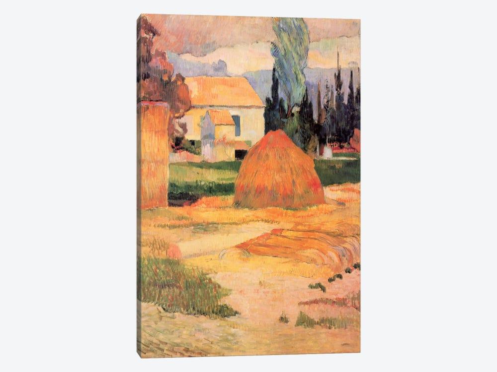 Haystack in Village by Paul Gauguin 1-piece Canvas Wall Art