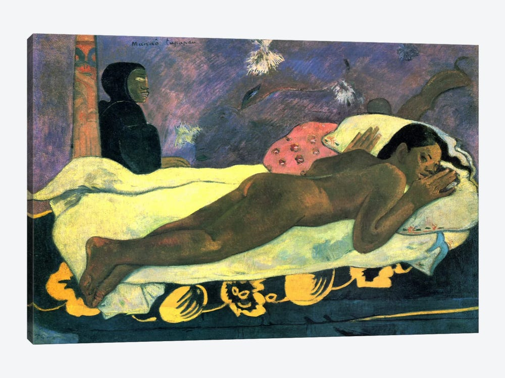 Girl in Bed by Paul Gauguin 1-piece Canvas Art Print