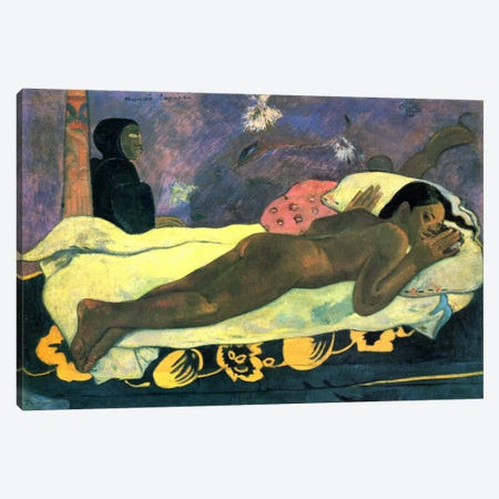 Girl in Bed Canvas Print #1288} by Paul Gauguin Canvas Art