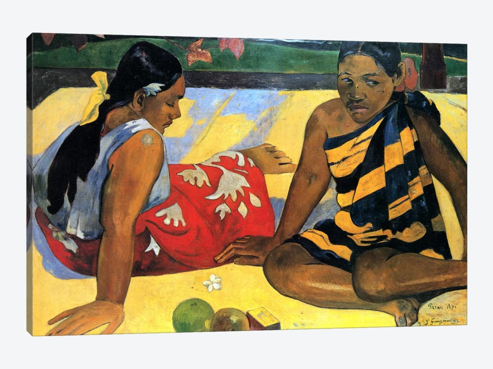 Two Women Sitting by Paul Gauguin 1-piece Canvas Artwork