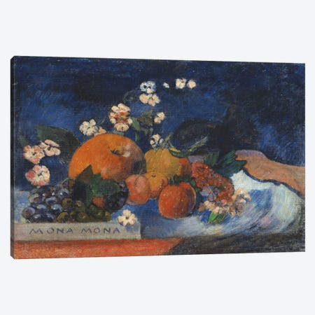 Mona Mona, Savoureux Canvas Print #1290} by Paul Gauguin Art Print