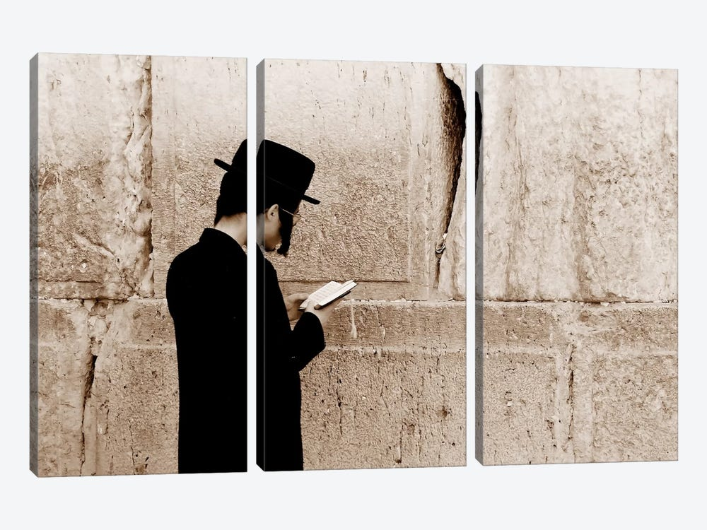 Jerusalem Wall by Unknown Artist 3-piece Art Print