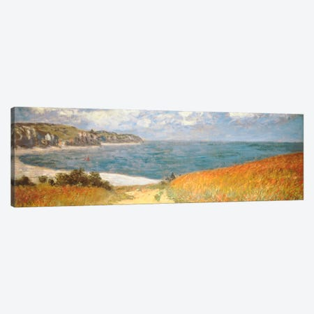 Path Through The Corn At Pourville Canvas Print #1307PAN} by Claude Monet Canvas Art Print