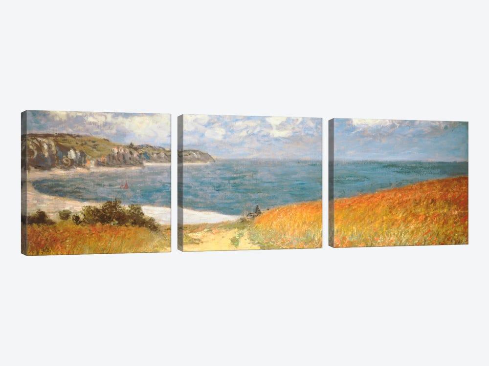 Path Through The Corn At Pourville by Claude Monet 3-piece Art Print