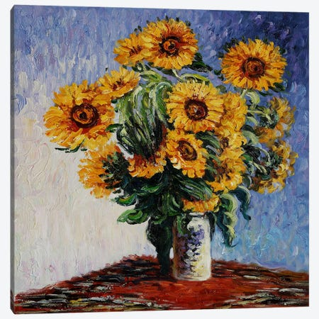 Sunflowers Canvas Print #1309} by Claude Monet Canvas Print