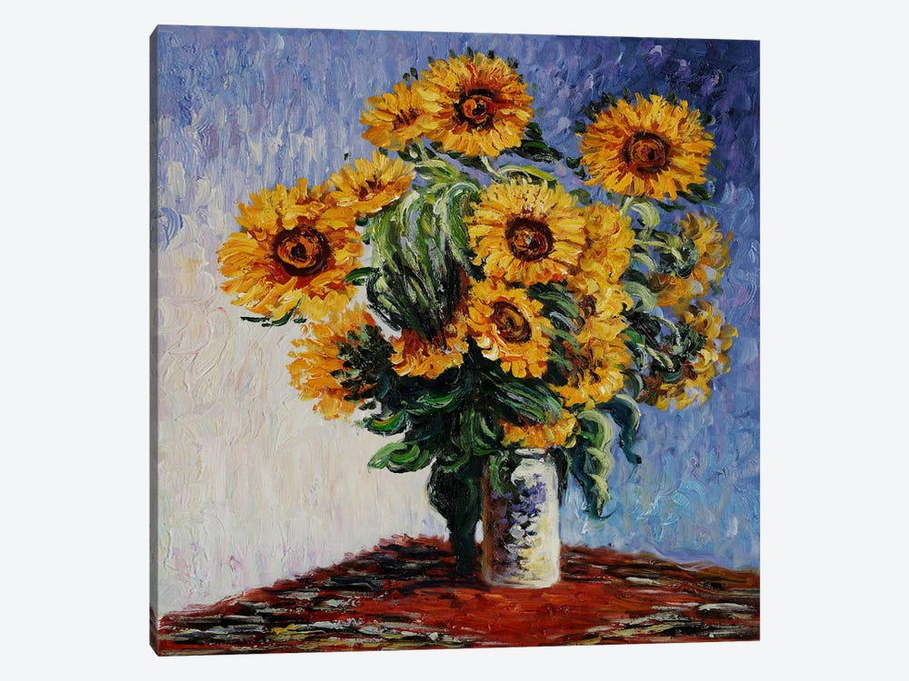 Sunflowers by Claude Monet 1-piece Art Print