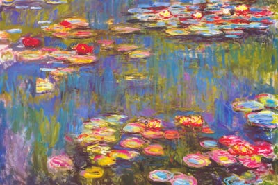 Water lilies 1916 canvas wall art by claude monet icanvas
