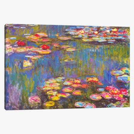 Water Lilies, 1916 Canvas Print #1313} by Claude Monet Canvas Artwork
