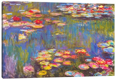 Water Lilies, 1916 by Claude Monet Canvas Artwork