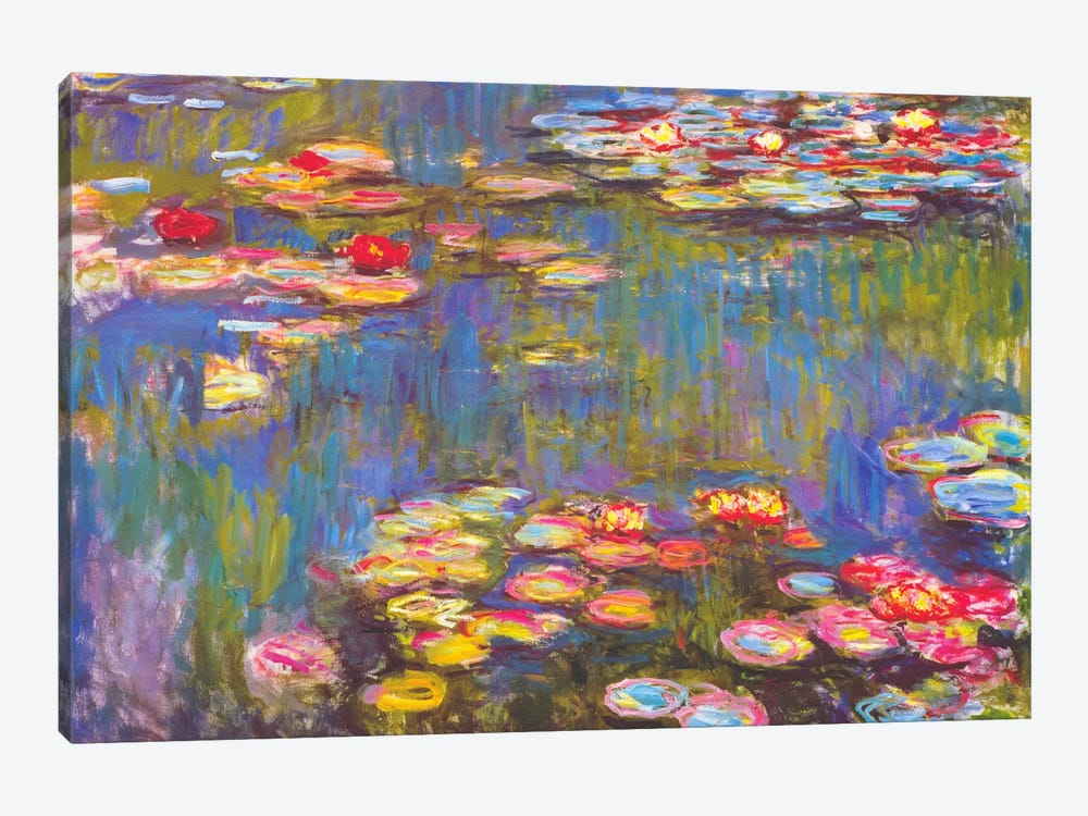 Water Lilies, 1916 by Claude Monet 1-piece Canvas Art