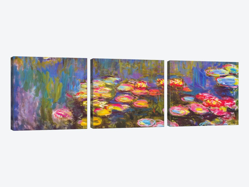 Water Lilies 3-piece Canvas Art