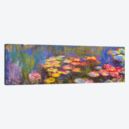 Water Lilies Canvas Print #1313PAN} by Claude Monet Canvas Art