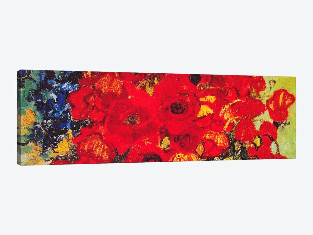 Vase with Daisies & Poppies by Vincent van Gogh 1-piece Canvas Print