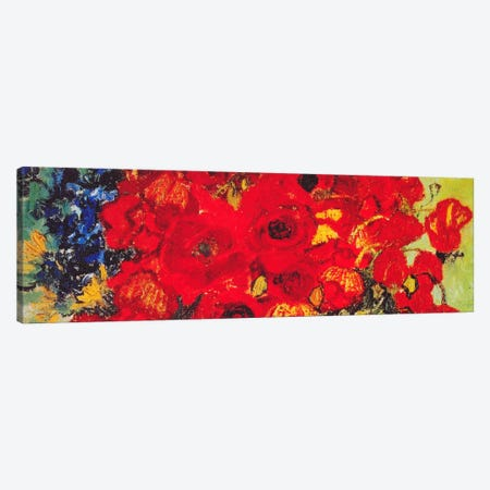Vase with Daisies & Poppies Canvas Print #1319PAN} by Vincent van Gogh Canvas Wall Art