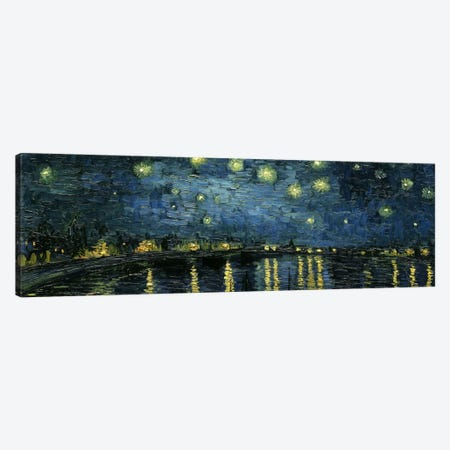 Starry Night Over The Rhone Canvas Print #1322PAN} by Vincent van Gogh Canvas Art Print